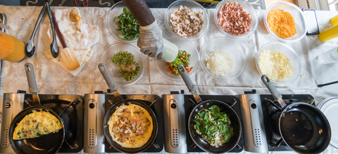 omelet action station